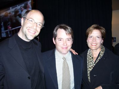 Brad and Gaye with Matthew Broderick