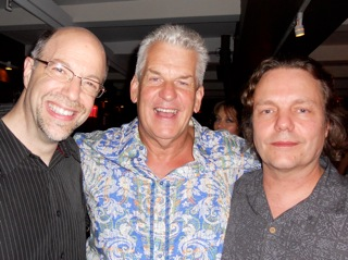 Brad, Lenny Clarke and Crit Harmon